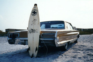 1966 New Yorker beach rear view